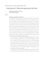Tình huống số 2: Phân tích ngành dược Việt Nam_ Quản trị chiến lược