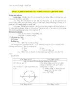 Giáo án Hình học 9 chương 2 bài 4: Vị trí tương đối của đường thẳng và đường tròn