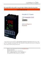 Transmiter, chuyển đổi tín hiệu từ pt100 sang analog 4~20mA.