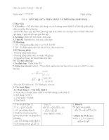Giáo án Đại số 9 chương 1 bài 3: Liên hệ giữa phép nhân và phép khai phương