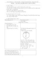 Giáo án Hình học 9 chương 3 bài 4: Góc tạo bởi tia tiếp tuyến và dây cung