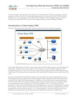 Configuring Remote Access VPN via ASDM