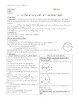 Giáo án Hình học 9 chương 2 bài 2: Đường kính và dây của đường tròn