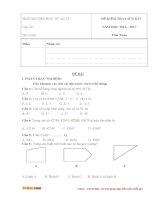 Đề thi giữa học kì 1 môn Toán lớp 4 trường tiểu học B An Cư, An Giang năm học 2016 - 2017