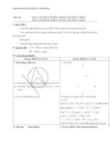 Giáo án Hình học 9 chương 3 bài 5: Góc có đỉnh ở bên trong đường trònGóc có đỉnh ở bên ngoài đường tròn