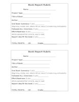 23935 oral bookrreport rubric