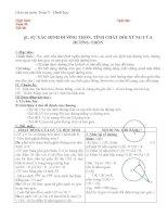 Giáo án Hình học 9 chương 2 bài 1: Sự xác định đường tròn  Tính chất đối xứng của đường tròn