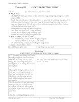 Giáo án Hình học 9 chương 3 bài 1: Góc ở tâm  Số đo cung