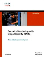 Cisco Press Security Monitoring with Cisco Security MARS