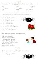 islcollective worksheets beginner prea1 elementary a1 adults writing present simple non continuous verbs 988834349548d752d249d69 32269191