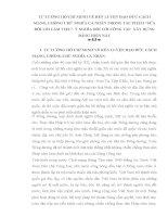 TIỂU LUẬN   tư TƯỞNG hồ CHÍ MINH về rèn LUYỆN đạo đức CÁCH MẠNG, CHỐNG CHỦ NGHĨA cá NHÂN TRONG tác PHẨM sửa đổi lề lối làm VIỆC