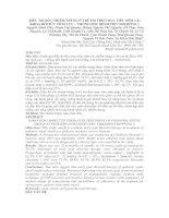 ĐIỀU TRỊ SỐC NHIỄM TRÙNG Ở TRẺ EM THEO MỤC TIÊU SỚM TẠI KHOA HỒI SỨC TÍCH CỰC – CHỐNG ĐỘC BỆNH VIỆN NHI ĐỒNG 1