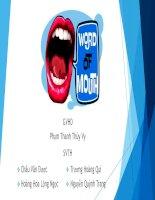 Thuyết trình môn marketing chủ đề word of mouth