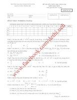 Tổng hợp đề thi toán cao cấp các khóa Đại học Kinh tế TP HCM