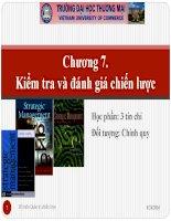 Slide Quản trị chiến lược_Chương7. Kiểm tra và đánh giá chiến lược