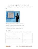 Giải bài tập trang 65 SGK Toán 4: Mét vuông