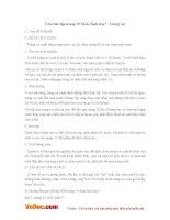 Giải bài tập trang 19 SGK Sinh lớp 7: Trùng roi