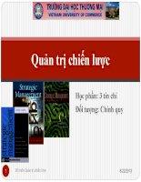 Slide Quản trị chiến lược_Chương 1: Tổng quan Quản trị chiến lược