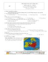 Đề kiểm tra giữa học kì 1 môn địa lý lớp 8 de 1