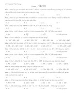 Bài tập trắc nghiệm hình học chương 1