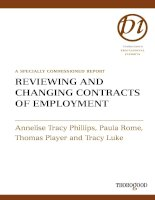 Reviewing and Changing Contracts of Employment