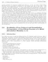 Qualitative (Flow Pattern) and QuantitativeComputation of the Filling Process of a Mold(Simulation Models)