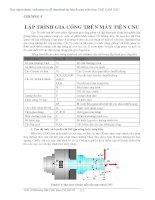 Chương 5 lập trình gia công trên máy tiện CNC