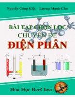 bài tập hóa học chuyên đề điện phân (ôn thi thpt quốc gia môn hóa học)