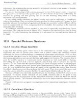 Special Release Systems