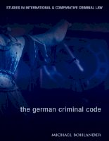 The German Criminal Code  A Modern English Translation Studies in International and Comparative Criminal Law