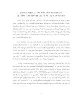 TIỂU LUẬN   tư DUY mới về GIAI cấp CÔNG NHÂN và sứ MỆNH LỊCH sử  GIAI cấp CÔNG NHÂN của ĐẢNG CỘNG sản VIỆT NAM TRONG GIAI đoạn HIỆN NAY