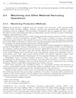 Machining and Other Material RemovingOperations