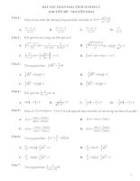 Bài tập trắc nghiệm môn toán Giải tích lớp 12, luyện thi THPT quốc gia P2