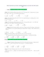 Phân dạng Bài tập trắc nghiệm môn toán Hình học lớp 12, luyện thi THPT quốc gia
