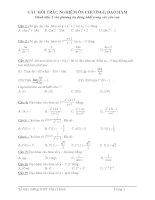 trắc nghiệm toán 12 ôn thi tốt nghiệp