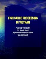 Fice sauce processing (tài liệu tiếng anh thực phẩm)