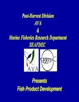 Fish product development (tài liệu tiếng anh ngành thực phẩm)