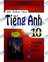 Đề Kiểm Tra Tiếng Anh 10 Ebook Miễn Phí ( Dùng Thử )