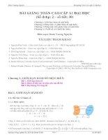Bài giảng toán cao cấp A1 (sư tầm )