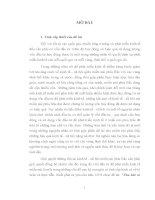 LUẬN án TIẾN sĩ   THU hút và sử DỤNG vốn đầu tư để PHÁT TRIỂN KINH tế VÙNG MIỀN núi PHÍA bắc nước TA