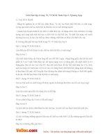 Giải bài tập trang 70, 72 SGK Sinh lớp 6: Quang hợp