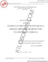 NGHIÊN CỨU KIẾN TRÚC HƯỚNG DỊCH VỤ (SERVICE-ORIENTED ARCHITECTURE) VÀ GIẢI PHÁP CỦA ORACLE