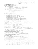 Các dạng bài tập về amin aminoaxit đồng phân của aminoaxit peptit và protein (Có hướng dẫn giải) Luyện thi đại học