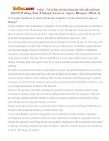 IELTS Writing Task 2 Sample Answers: Agree/ Disagree (Phần 3)