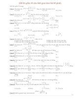 Đề thi thử THPTQG trắc nghiệm môn toán 2017