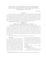 BƯỚC ĐẦU VẬN DỤNG ĐỐI SÁNH TRONG GIÁO DỤC ĐỂ SO SÁNH BẢY TRƯỜNG TRUNG HỌC PHỔ THÔNG TỈNH BÀ RỊA – VŨNG TÀU