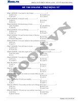 9  trợ động từ (p3)  thi online   trợ động từ