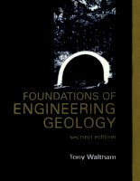 Tony waltham   foundations of engineering geology