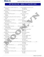 13  động từ nguyên mẫu (p3)  thi online   động từ nguyên mẫu