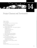 QUẢN LÝ DỰ ÁN - Project management   chapter 14